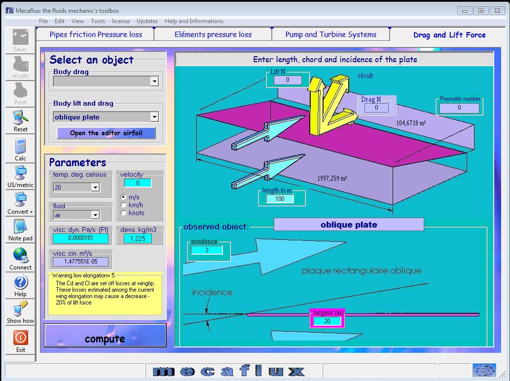 FLUID MECHANICS SOFTWARE FOR SIMPLE CALCULATION OF FLUID MECHANICS