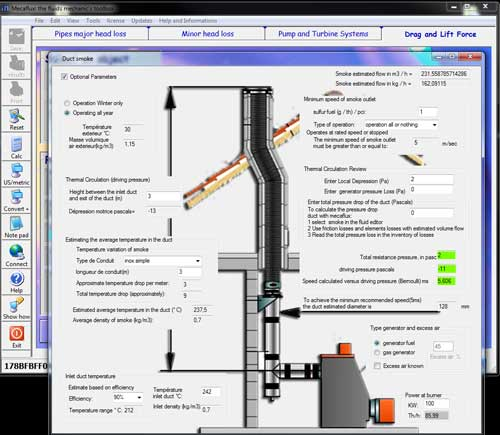 Diameter pipe smoke flue calculation software sizing flue duct interface calculation greentooth