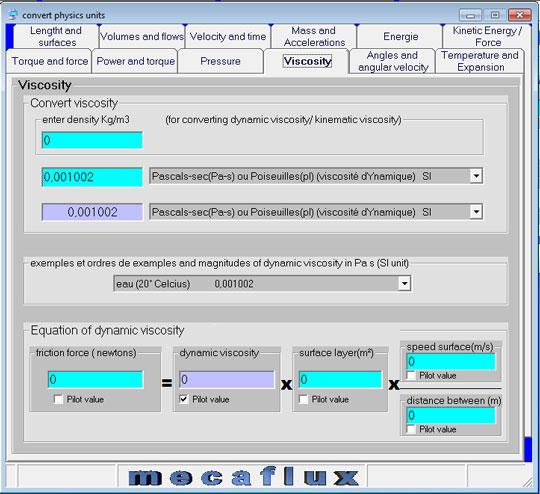 VISCOSITY FLUID DYNAMICS AND KINEMATICS OF GAS OR LIQUID