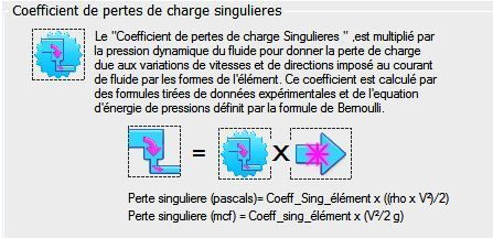 coefficient perte charge singuliere