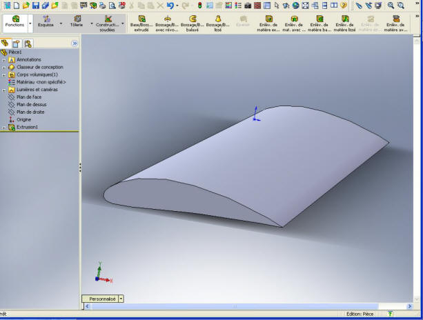 3d hydrodynamic wing profile aerodynamic